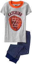 Crazy 8 Heather Gray 'Zzzz' Fitted Pajama Set - Infant, Toddler & Boys