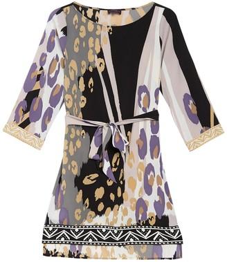 Hale Bob Patterned Tie Waist Dress