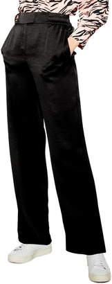 Topshop Elastic Satin Trousers