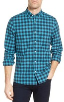 Nordstrom Men's Slim Fit Washed Gingham Sport Shirt