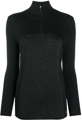 Y-3 Ribbed Knit High-Neck Top