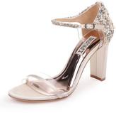 Badgley Mischka Fernanda Embellished Satin Sandals