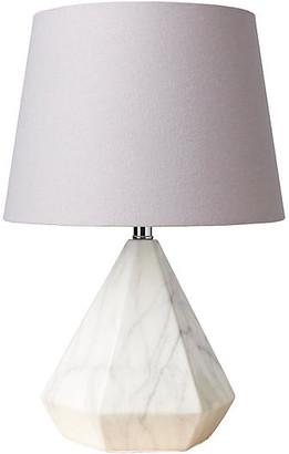 One Kings Lane Asti Marble Table Lamp - White