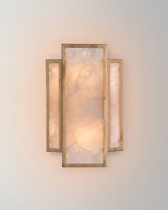 John-Richard Collection John Richard Collection Calcite 2-Light Wall Sconce