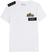 RED Valentino Cotton T-Shirt with Embroidered Patches