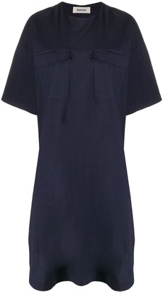 Zucca zip detail T-shirt dress