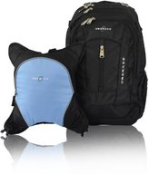 Obersee Bern Diaper Bag Backpack with Detachable Cooler, Black/Cloud
