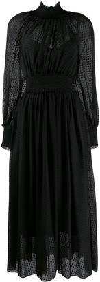 Zimmermann sheer layered midi dress