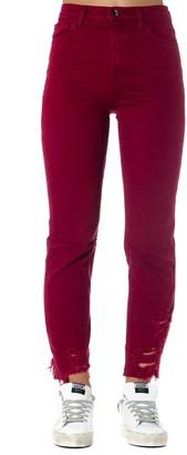 J Brand Red Cotton Denim Jeans