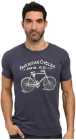 The Original Retro Brand - Short Sleeve Tri-Blend American Cycle Tee Men's T Shirt