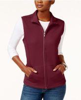 Karen Scott Quilted Fleece Vest, Created for Macy's