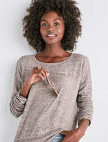 Lucky Brand Ruched Sleeve Pullover