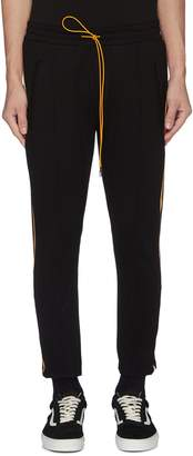 Rhude 'Traxedo' stripe outseam track pants