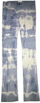 Jitrois Blue Leather Trousers for Women