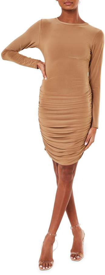 Missguided Ruched Mini Bodycon Dress