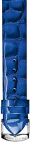 Philip Stein Teslar 12mm Embossed Patent Leather Watch Strap, Cobalt Blue