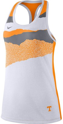 Nike Women's White Tennessee Volunteers Mezzo Racerback Tri-Blend Performance Tank Top