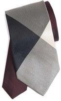 Burberry Men's Texture Check Silk Skinny Tie