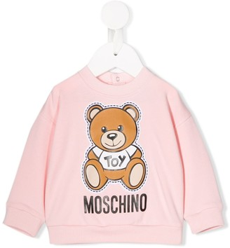 MOSCHINO BAMBINO Bear Print Top