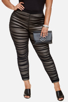 Fashion to Figure Vivica Ruched Mesh Leggings