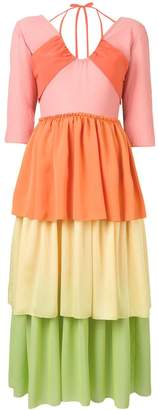 REJINA PYO Cleo ombre crepe dress