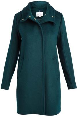Cole Haan Women's Car Coats Petroleum - Petroleum Snap Wool-Blend Car Coat - Women