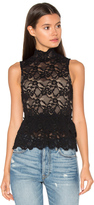 Nightcap Clothing Peplum Cut Out Top