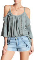 Romeo & Juliet Couture ROMEO &JULIET COUTURE Cold Shoulder Lace Shirt