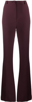 Hebe Studio High-Waisted Flared Trousers