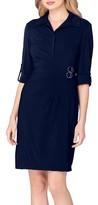 Tahari Petite Women's Jersey Wrap Shirtdress