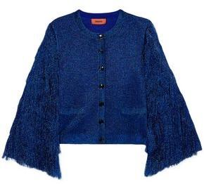 Missoni Fringed Metallic Knitted Cardigan
