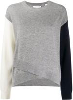 INC Womens Metallic Crossover Pullover Sweater