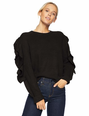 The Fifth Label Women's Rookie Crew Neck Knit with Ruffle Details on Sleeve