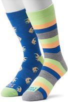 Men's Funky Socks 2-pack Angelfish Derby Socks