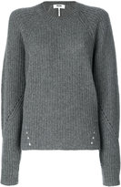 MSGM ribbed knit jumper - women - Polyamide/Wool - S