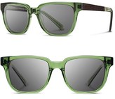 Shwood Women's 'Prescott' 52Mm Polarized Acetate & Wood Sunglasses - Emerald/ Ebony/ Grey Polar