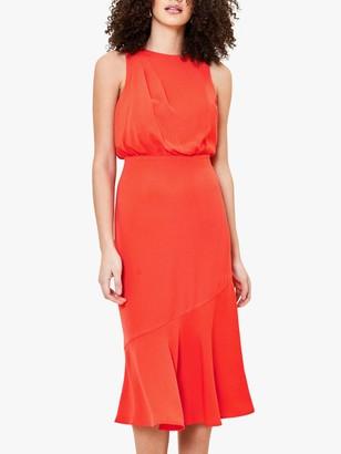 Oasis Wrap Back Midi Dress, Orange