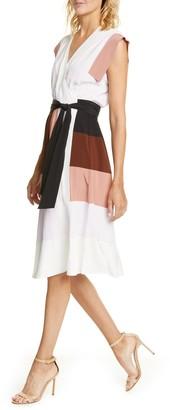 Diane von Furstenberg Ingrid Colorblock Silk Wrap Dress