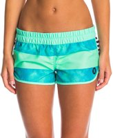 "Hurley Women's Supersuede Printed 2.5"" Beachrider Boardshort 8147459"