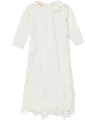 Biscotti Girls' Special Occasion Dresses WHITE - White Lace-Detail Gown - Infant