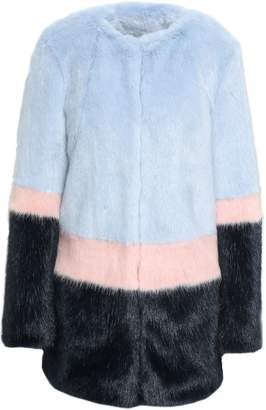 Shrimps Color-block Faux Fur Coat