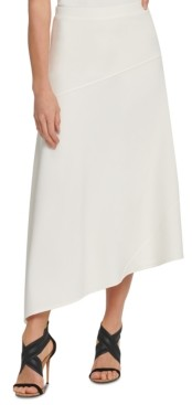 DKNY Asymmetrical Spliced Skirt