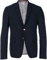 Thom Browne two-button blazer - men - Cupro/Wool - 0