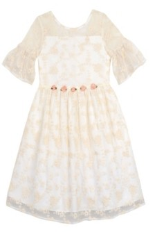 Laura Ashley & Marmellata Laura Ashley London Baby Girl's Embroidered Mesh Dress