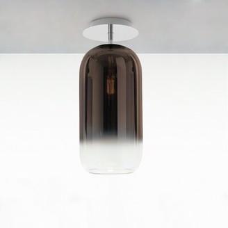 """Artemide Gople 1 - Light Unique/Statement Cylinder Semi Flush Mount Shade Color: Bronze, Size: 14"""" H x 6"""" W x 6"""" D"""