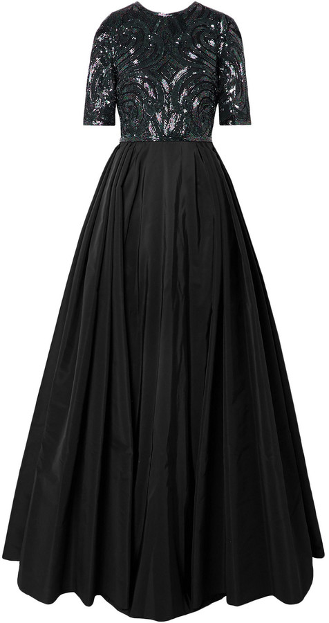 Thumbnail for your product : Naeem Khan Embellished Silk-tulle And Taffeta Gown
