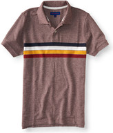 Striped Marled Piqué Polo