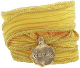 Catherine Michiels Le Zino Bronze Charm & Silk Bracelet Wrap