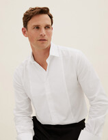 Marks and Spencer Cotton Blend Tailored Fit Dinner Shirt