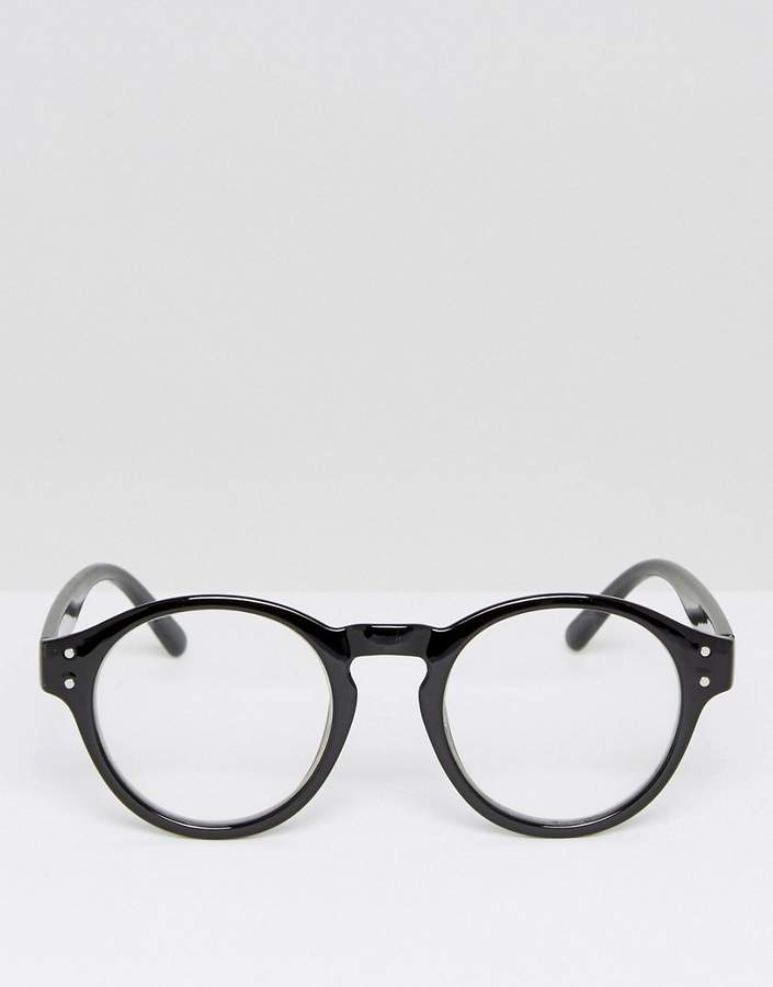 A. J. Morgan Aj Morgan Retro Round Glasses In Black